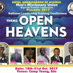 2017 National Leadership Training Congress of the Royal Ambassadors of the Nigerian Baptist Convention